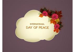 Vetor do dia da paz