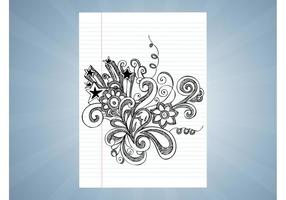 Notebook Ritningar Vector