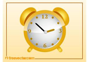 Golden Clock Vector