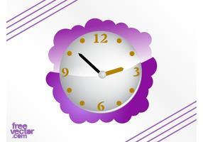 Vetor de relógio roxo