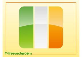 Irländsk flaggvektor