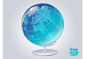 Vetor globo 3d