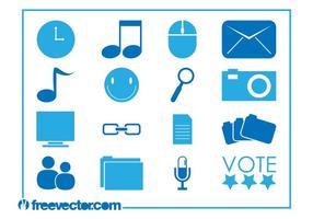 Iconos de los iconos de la tecnología