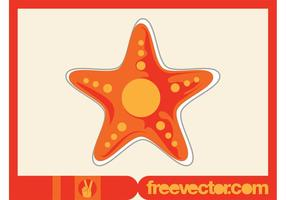 Starfish Vector Sticker