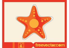 Starfish-Vektoraufkleber