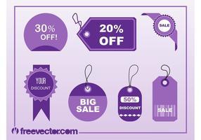 Shopping Tags Vectors