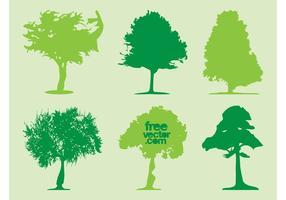 Vecteurs de silhouettes d'arbres