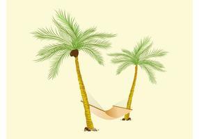 Palmen En Hangmat Vector