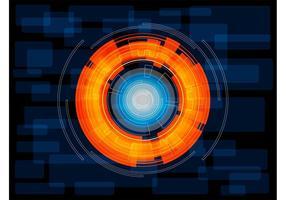 Vector cirkelachtergrond