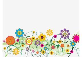 Dekorativa blommor vektor
