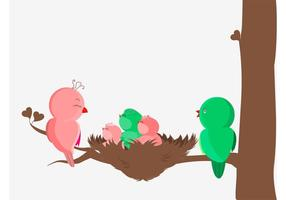 Vogelfamilie Vektor