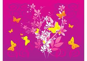 Vector de las mariposas de la primavera