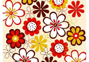 Vector Flowers Pattern
