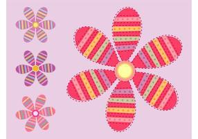 Blommor vektorer Set