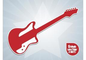 E-Gitarren-Aufkleber