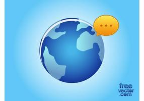 Sociale Wereld Vector