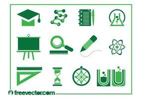 Education Icons Vectors