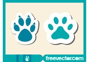 Paw Stickers Vector