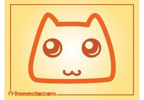 Icône de vecteur de chat