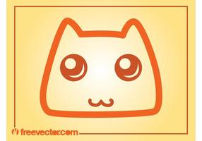 Icono del vector del gato