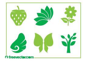 Iconos de la naturaleza Vector