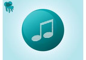Music Button Vector