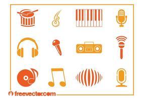 Vectores de los iconos de la música