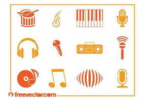 Musik ikoner vektorer