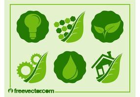 Ecología Iconos Vector