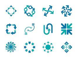 Icônes des flèches vectorielles