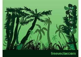Jungle planten vector
