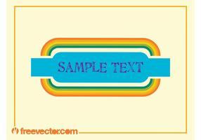 Kleurrijke Vector Banner