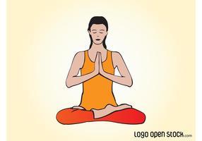 Vektor yoga kvinna