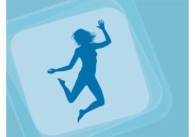 Springen gelukkig meisje