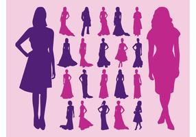 Women In Dresses Vector