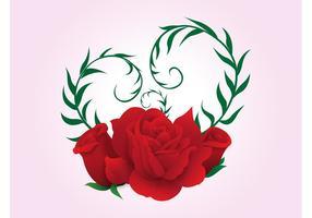 Vecteur amour rose