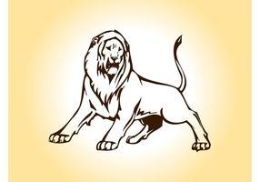 Gráficos do vetor do leão