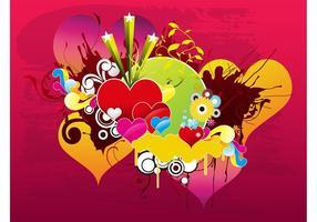 Kärlek Vektor Bakgrund