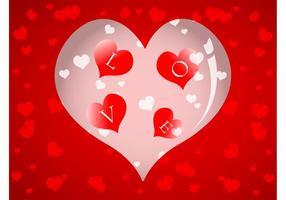 Vector de fondo de amor