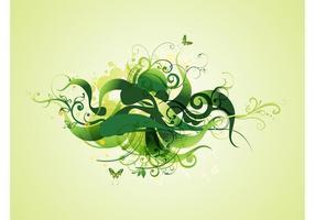 Plantes tourbillonnantes vertes