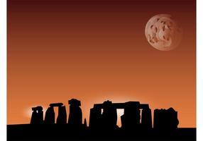 Stonehenge Vektor Hintergrund