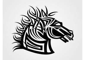 Cabeza de caballo del vector