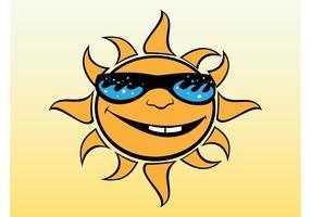 Vector de dibujos animados de Sun