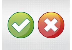 Ícones corretos e errados