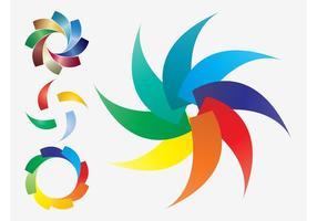 Kleurrijke Pictogrammen Vector