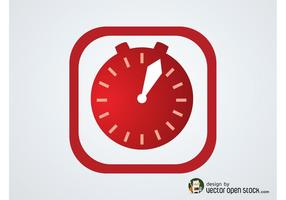 Vector timer pictogram