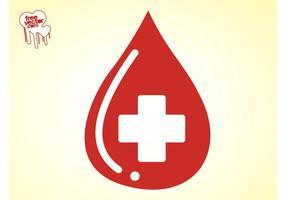 Blod droppe vektor