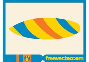 Surfplank vector clip art