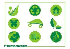 Vecteurs d'icônes d'écologie