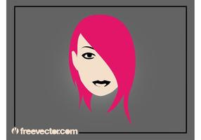 Emo chica vectorial